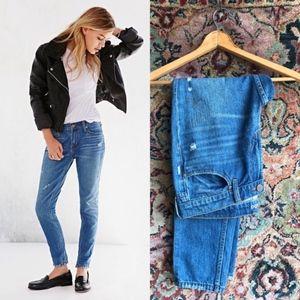 UO BDG Slim Boyfriend Jeans Distresses & Stitched